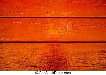 Golden orange wood surface with grunge effect