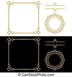 Golden ornament frame