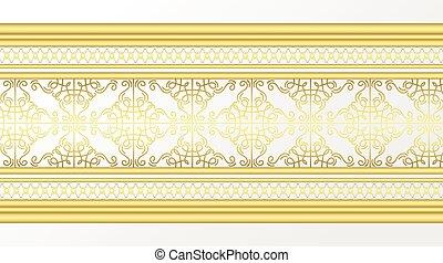 Golden ornamental border