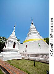 Golden pagoda in Chiang Mai, Thailand