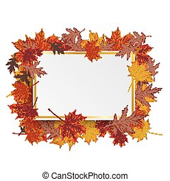 Golden Paper Board Autumn Foliage - Paper board with foliage...