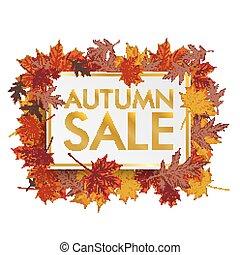 Golden Paper Board Autumn Foliage Sale