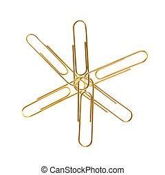 Golden paper clips