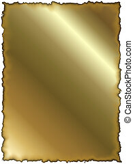 Golden paper with burned edges