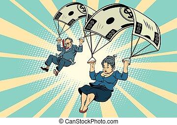 Golden parachute financial compensation Businessman and business
