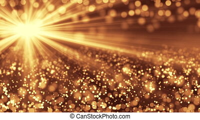 Golden particle seamless background