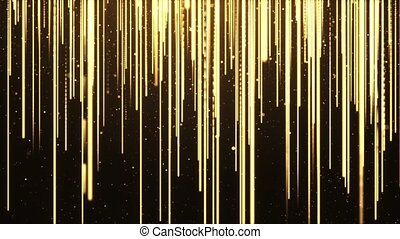 Golden particles streaks flowmotion, luxury golden particle ...