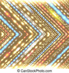Geometric background with stylized shiny arrow.