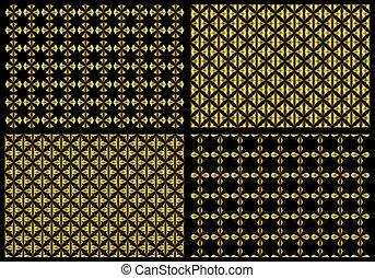 Golden pattern backgrounds