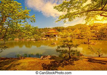 Golden Pavilion at sunset