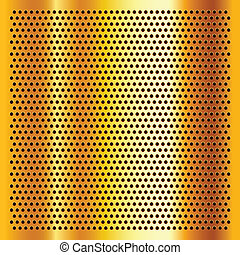Golden perforated sheet