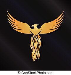 Golden Phoenix Bird logo - Golden Phoenix Bird