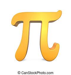 Golden Pi Symbol