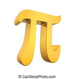 Golden Pi Symbol