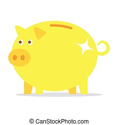 golden piggy bank.