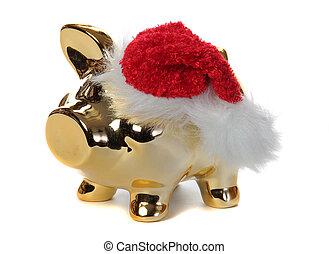 golden piggybank with jelly bag cap
