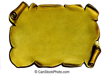 Isolated gold plaque (empty space for you text or picture)