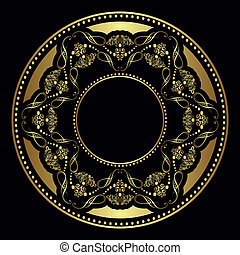 golden plate vector