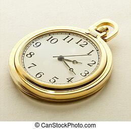 Golden pocket watch