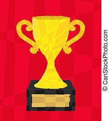 golden polygon cup