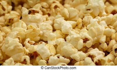 Golden Popcorn Moving Shot - Tracking shot moving slowly...