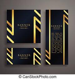 golden premium invitation card design template