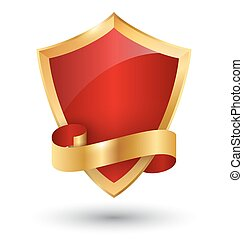 Golden Premium Quality Red Best Label Space for Text Isolated on