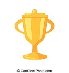 Golden Prize Cup Icon Vector Illustration