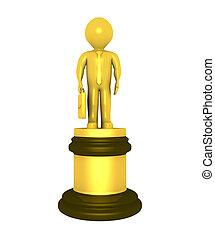 Golden prize for businessman - 3d golden prize for best...