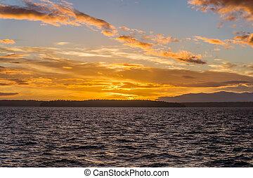 Golden Puget Sound Sunset 2