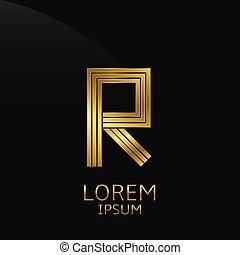 Golden R Letter