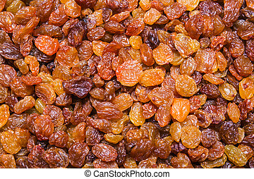 Golden Raisins background, texture