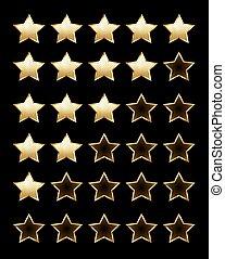 Golden rating stars