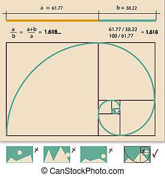 Golden Ratio, Golden Proportion vector illustration