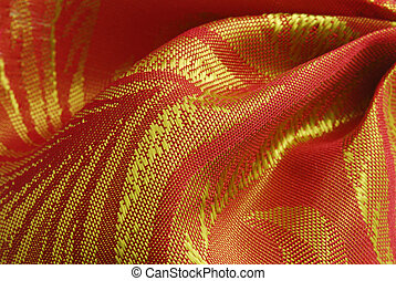 golden red fabric texture