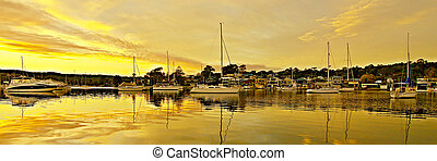 Golden Reflections Sunrise.