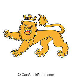 Golden regal  heraldic lion