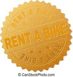 Golden RENT A BIKE Award Stamp