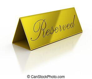 golden reservation sign
