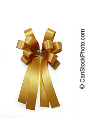 Golden ribbon and bow
