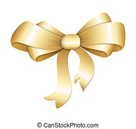Golden Ribbon Bow