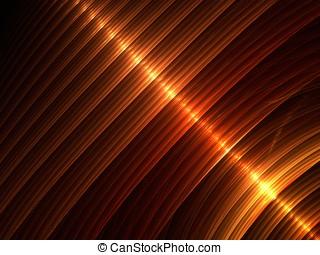 Golden Ribbons - Layered hues of shiny golden brown,...