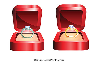 golden ring and silver ring