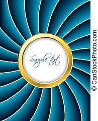 Golden ring brochure with blue twirl - Golden ring brochure ...