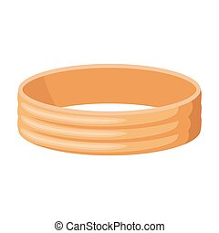 Golden ring icon in cartoon style isolated on white background. Jewelry and accessories symbol stock vector illustration.