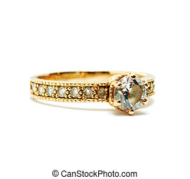 ring - Golden ring isolated on the white background
