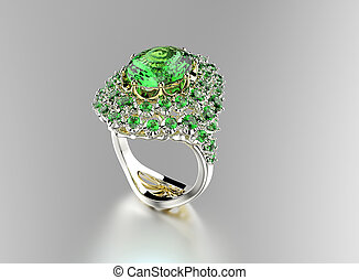 Golden Ring with gemstone - Golden Ring with different color...