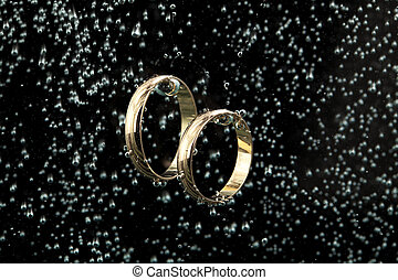 Golden Rings In The Water