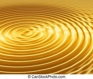 golden ripple abstract