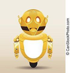 golden robot cartoon